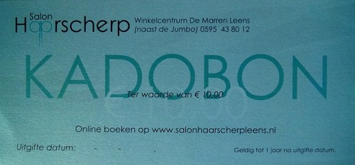 kadokaart salon haarscherp